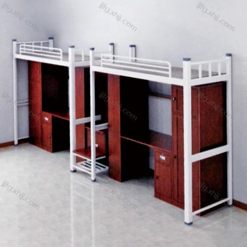 上床下桌高低床学生宿舍公寓床GYC-04