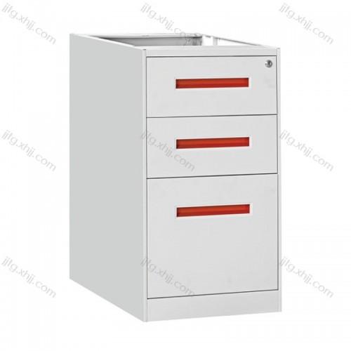 办公抽屉小推柜铁皮柜带锁桌下文件柜ZDG-01