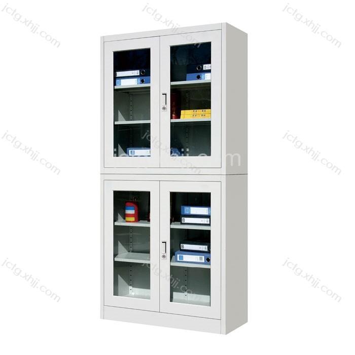 厂家直销钢制玻璃门文件柜01