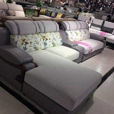 香河批发?#23478;?#27801;发客厅转角多功能休闲木线沙发天元沙发