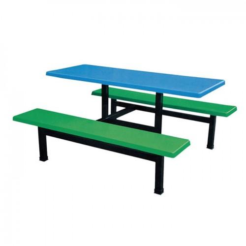 食堂餐桌椅学校餐厅连