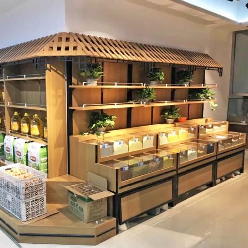 香河定做超市干货柜 五谷杂粮柜 03