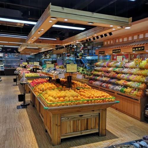 北京水果架展示架 超市双层蔬菜水果货架 01