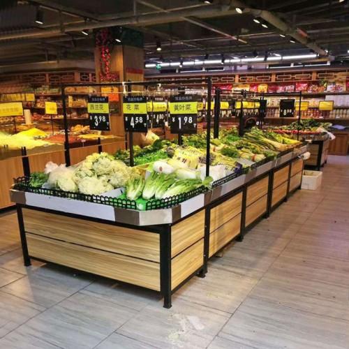 天津现货超市水果蔬菜生鲜货架 02