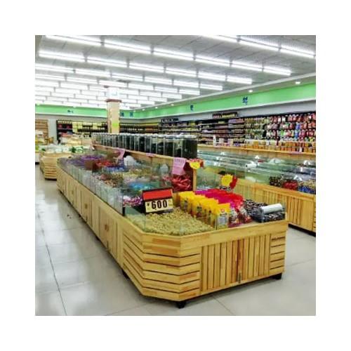超市干果促销柜展示台 食品架散装展柜 01
