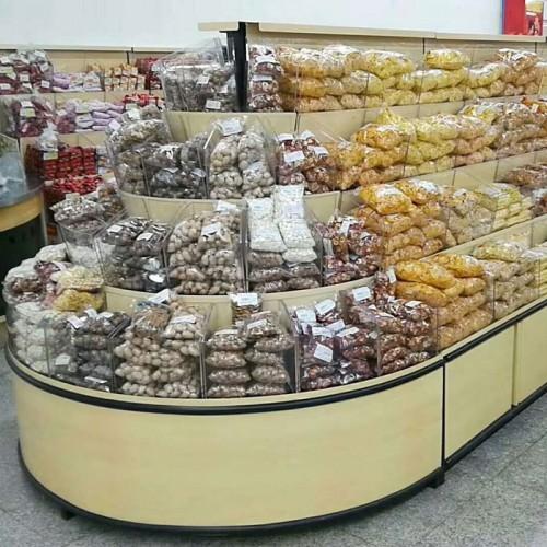 超市散装干果食品展示货柜 散称零食糖果架定制03