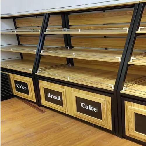 定制铁艺实木面包柜饼干展示柜05