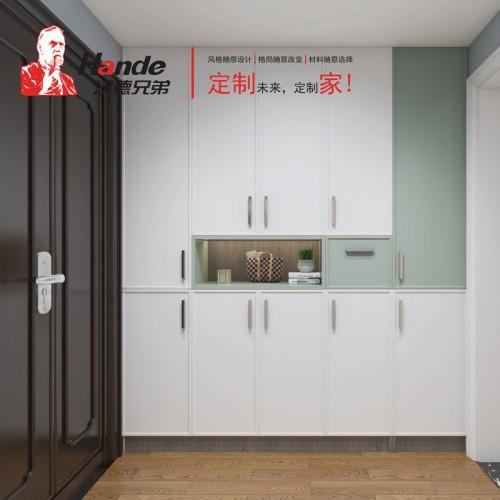 现代北欧玄关柜定制 客厅玄关柜北京汉德全屋定制05