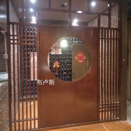 香河松木饭店隔断窗户凉亭中式实木可定制设计门图片