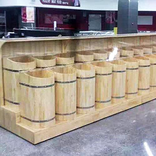 北京超市木质散装米粮桶杂粮收纳柜批发10