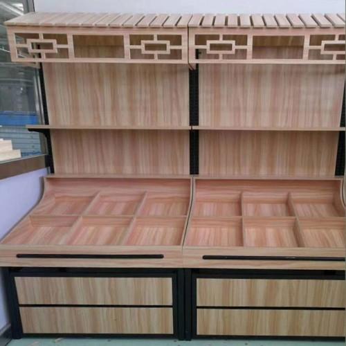 定做木质水果货架干果柜糖果杂粮柜13