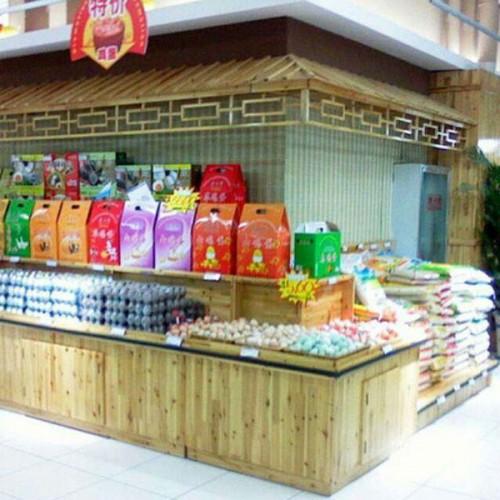 超市木质干果货架散装糖果杂粮柜米柜16