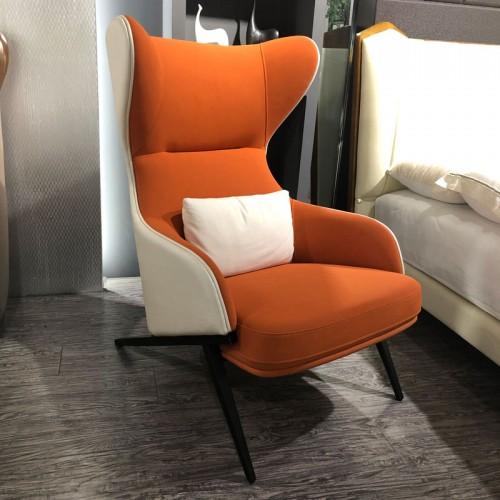 轻奢单人沙发椅北欧高背扶手椅04