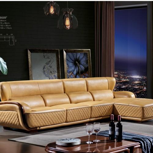 客厅转角沙发采购  现代转角沙发批发价格 8689