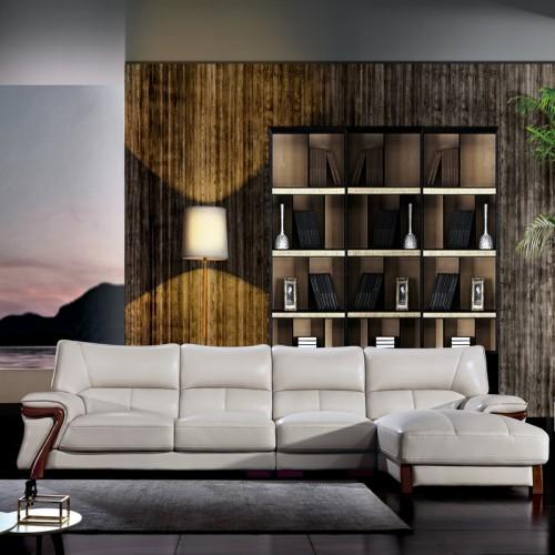 现代真皮沙发图片 时尚轻奢转角沙发价格8658