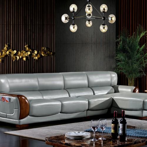 现代舒适沙发床厂家  客厅真皮沙发价格8662