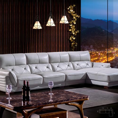 客厅休闲转角沙发价格 客厅休闲沙发批发8601