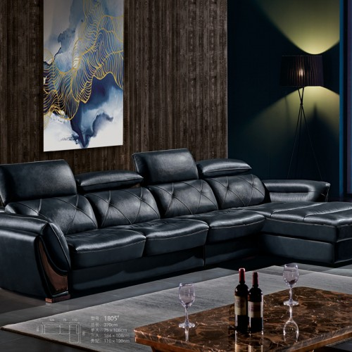 天津梵普软体家居 客厅转角沙发定制1805