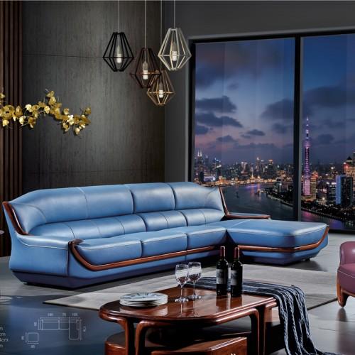休闲沙发价格 真皮沙发厂家品牌9001