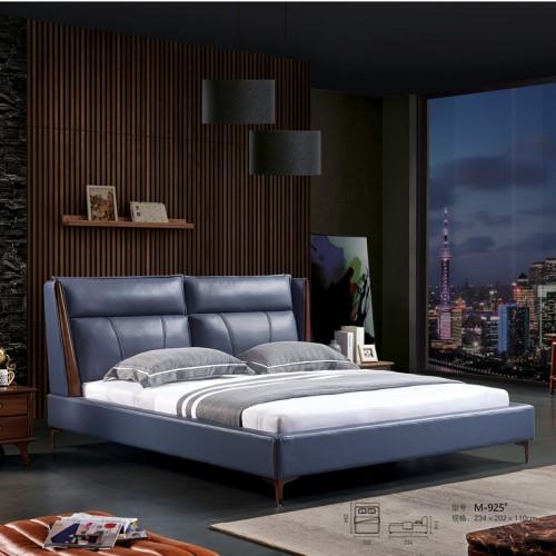 小户型真皮双人床1.8米卧室双人床M-925