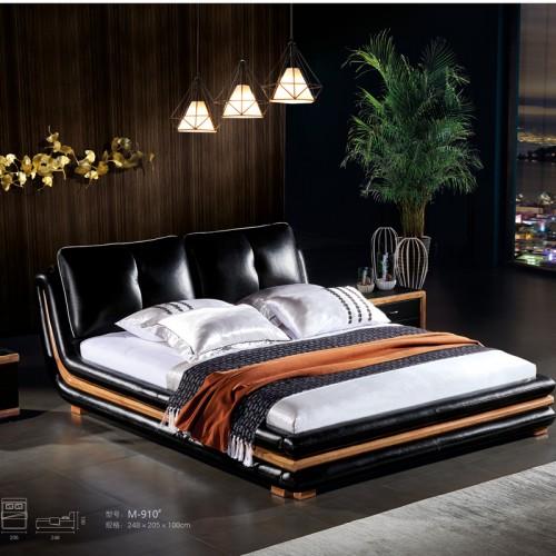 北欧简约双人床 1.8米双人床工厂直销M-910