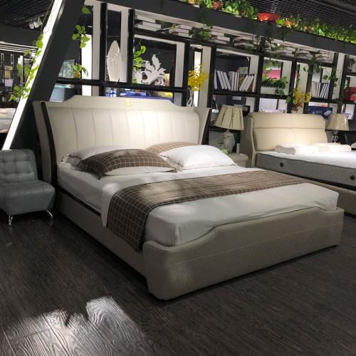 主卧双人床现代简约1.8米真皮软床01
