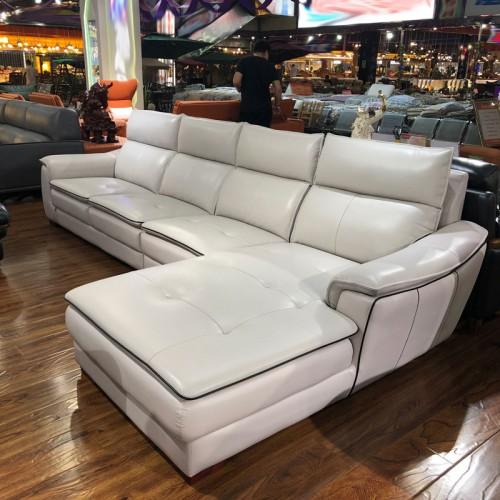 客厅转角整装沙发 简约现代大小户型皮沙发01