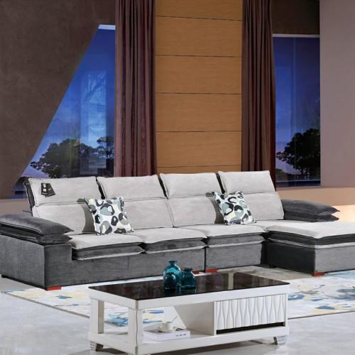休闲转角布艺沙发厂家  客厅沙发采购937#