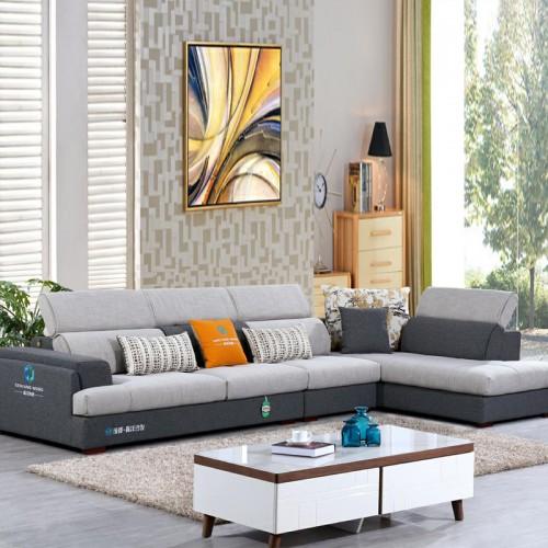 成都森洋沙发品牌 布艺转角沙发厂家996#