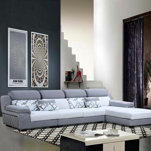 现代布艺沙发图片 休闲转角沙发价格910-C#