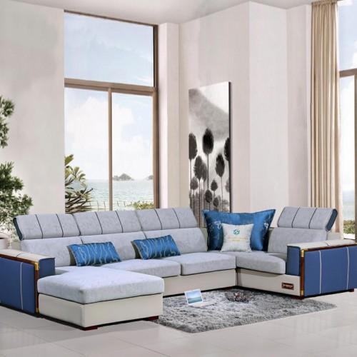 客厅舒适沙发厂家  休闲布艺沙发价格 989#
