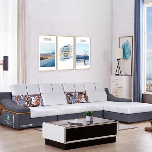 小户型转角沙发品牌家具 客厅家具价格 1009#