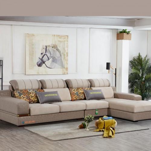 客厅转角沙发厂家 转角休闲沙发采购 999#