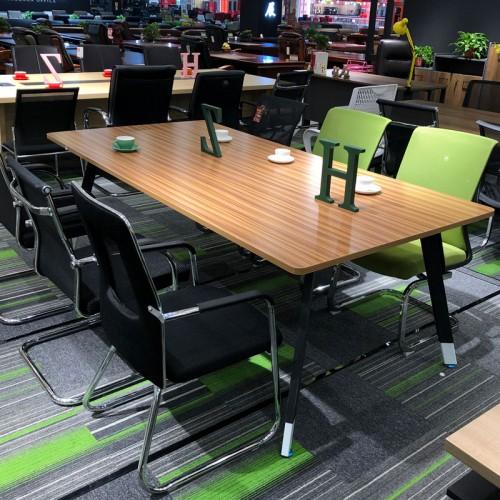 办公板式六人位会议桌 家具生产厂家01#