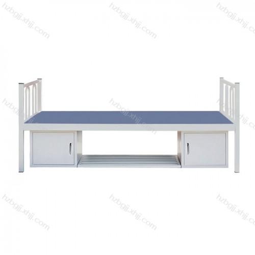 军队单人床 带柜子钢制床04#