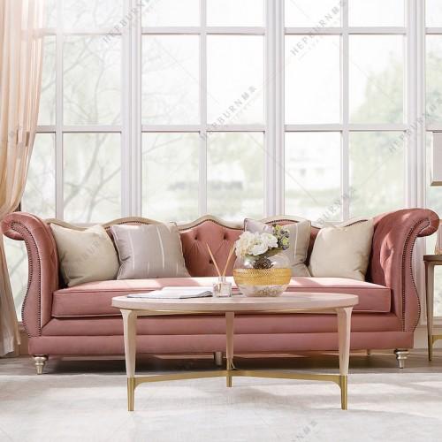 个性时尚轻奢三人位沙发意式轻奢布艺三人位沙发_MG_7174