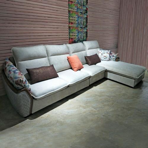 软体家居 简约现代布艺L型沙发SF-6001#