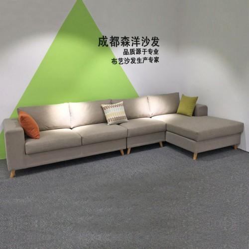 北欧布艺沙发厂家 简约沙发品牌供应商 SF-6009#
