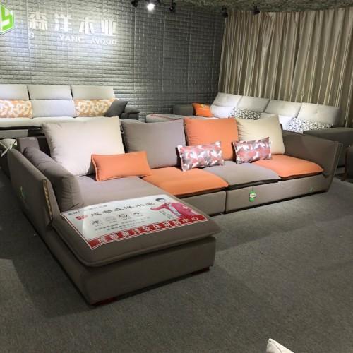 时尚转角沙发采购 客厅家具供应商1014#