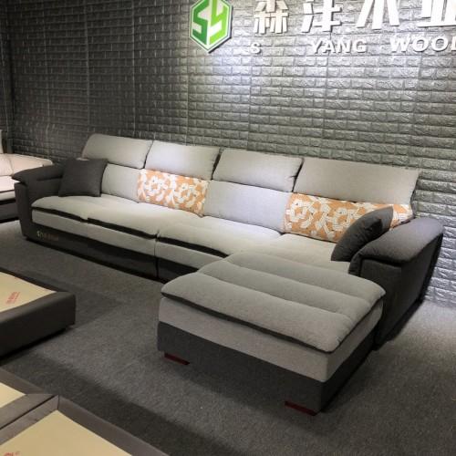 时尚转角沙发批发采购 布艺沙发价格 SF-6011#