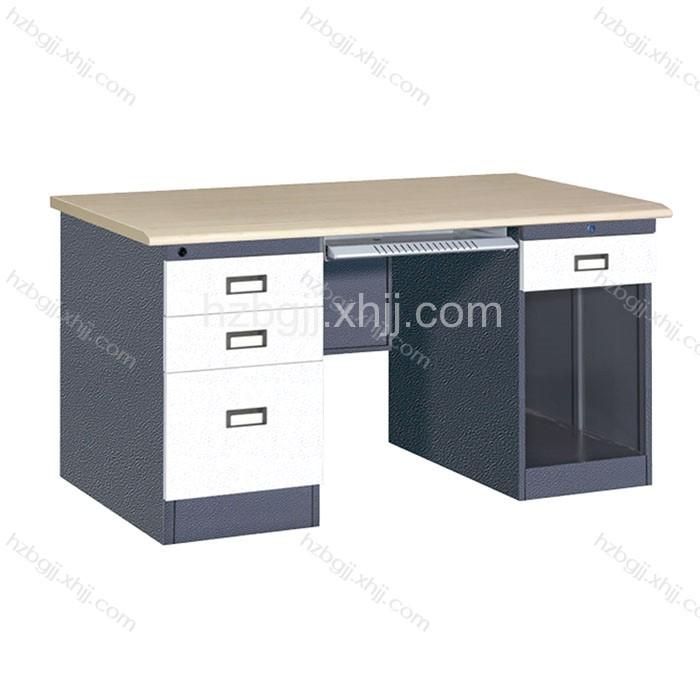 香河钢制办公桌 铁皮带抽屉班台05#