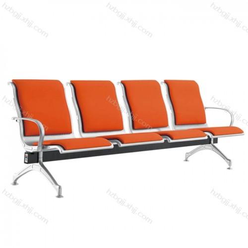 社区服务中心等候椅 商用不锈钢连排椅06#