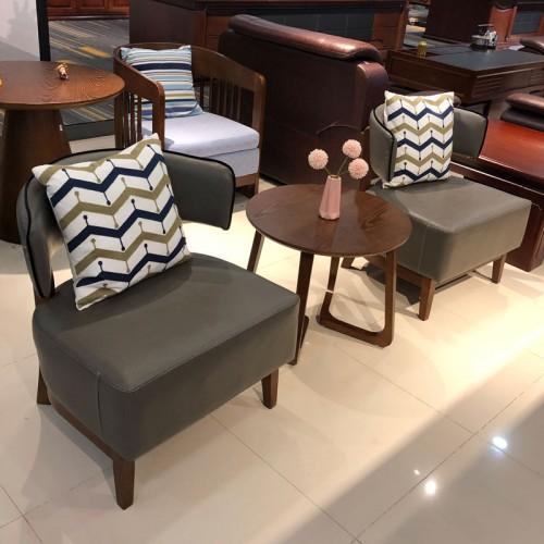 实木会客桌椅 办公洽谈沙发价格05#