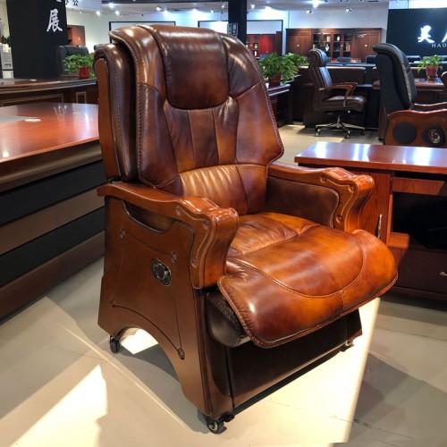 商务实木座椅 经理办公室皮质办公椅02#