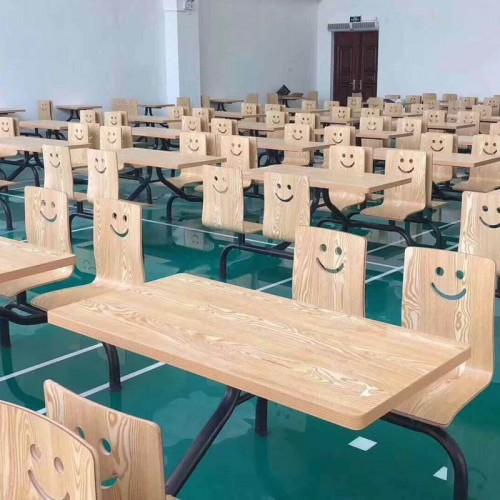 香河连体餐桌椅价格 学校食堂餐桌椅尺寸12#