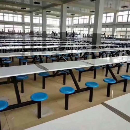 工厂直营学生学校员工厂食堂餐桌椅连体13#