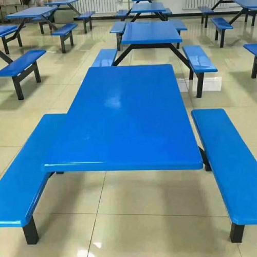 学生员工餐桌椅价格 四人位连体快餐桌采购14#