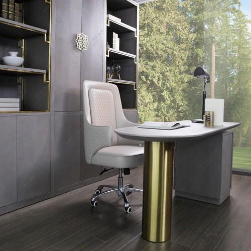 时尚简约灰色书桌白色转椅意式轻奢灰色书桌_MG_7632 (1)
