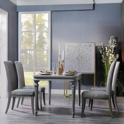 轻奢时尚灰色长方形餐桌现代简约灰色餐桌_MG_7835 (1)