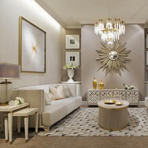 轻奢时尚客厅沙发茶几电视柜意式极简客厅沙发_DS6918